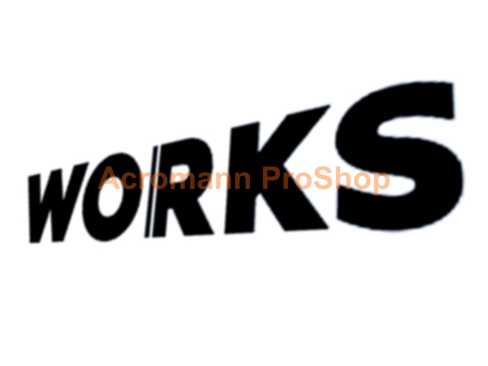 Works Motorsports 6inch Decal (Style#1) x 2 pcs