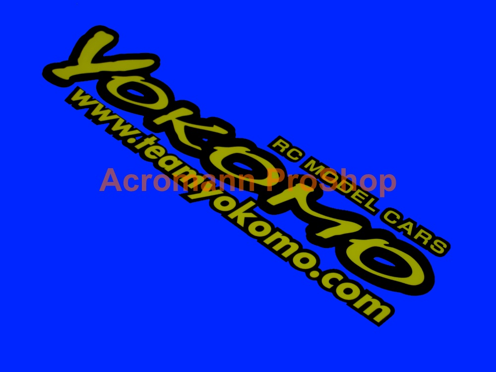 Yokomo Bonnet / Fender Decal x 1 pc