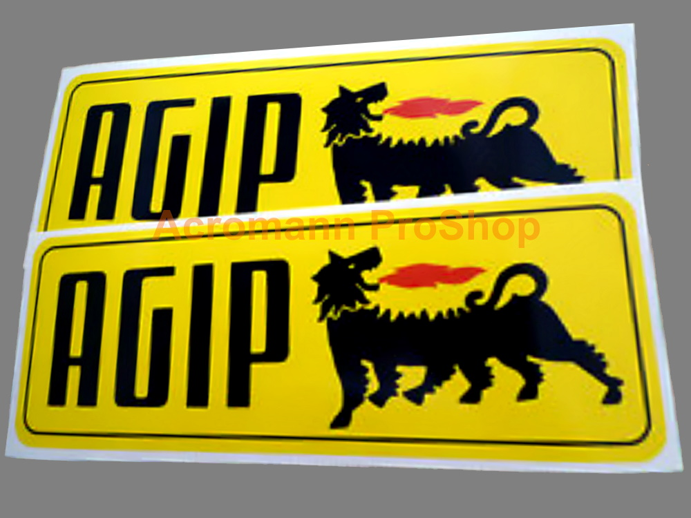 Agip 6inch Decal (Style#14) x 2 pcs