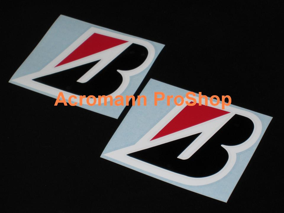 BRIDGESTONE 3.5inch Decal (Style#3) x 2 pcs