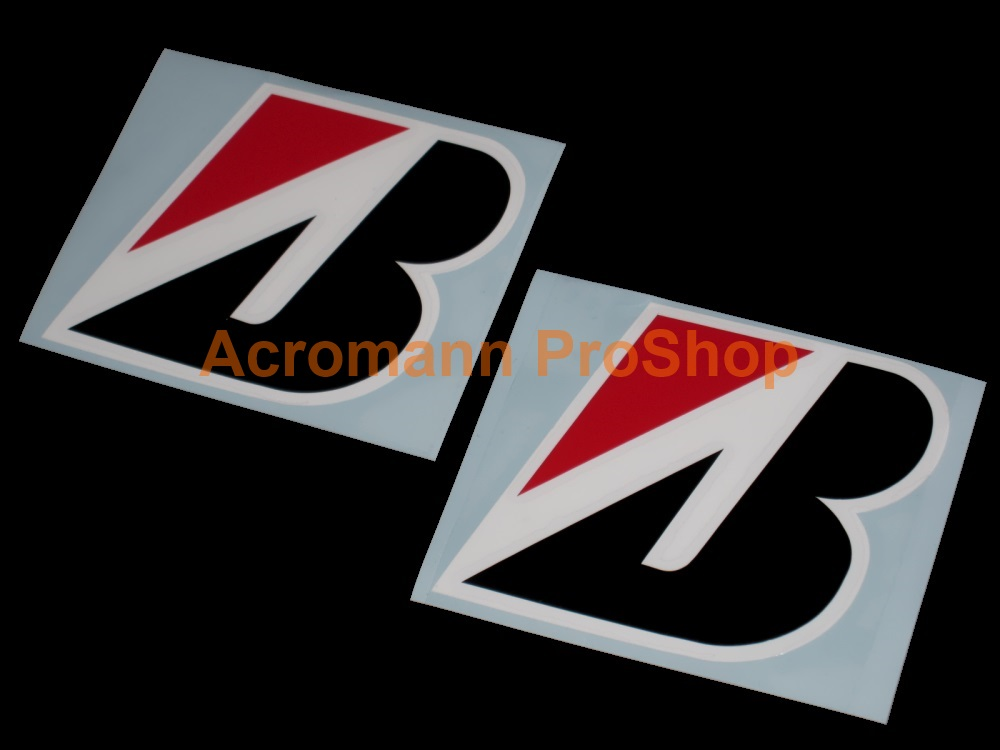 BRIDGESTONE 3.5inch Decal (Style#4) x 2 pcs