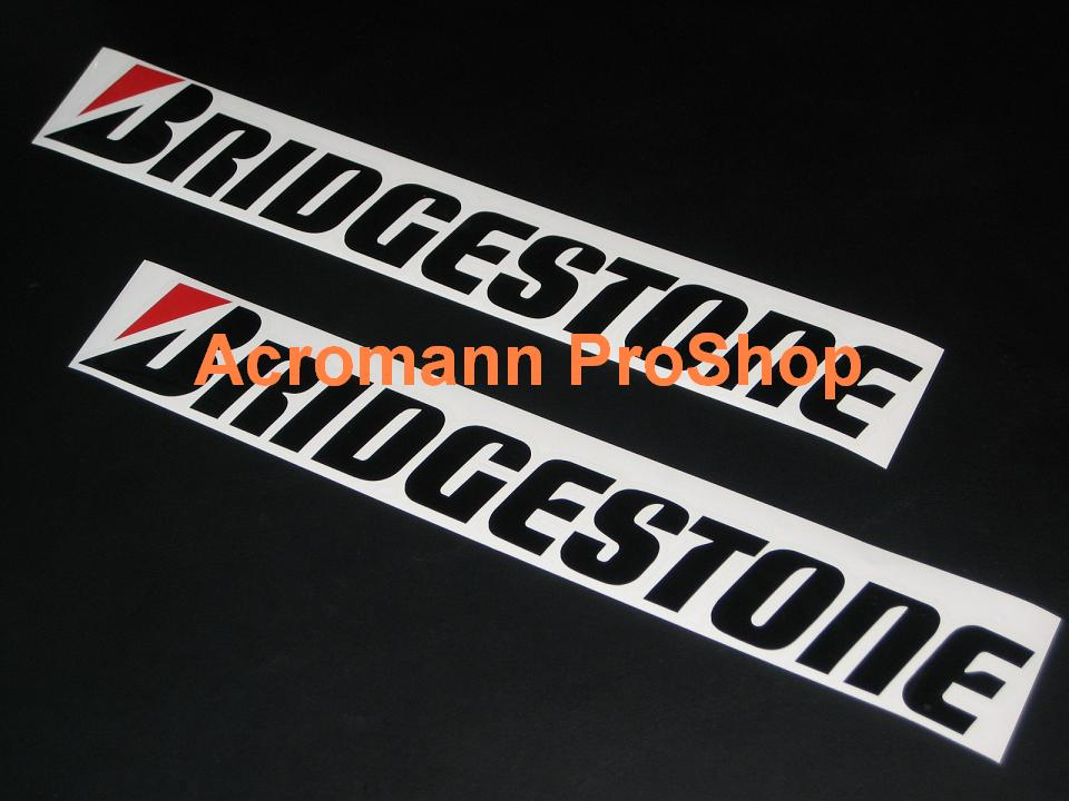 BRIDGESTONE 6inch Decal (Style#1) x 2 pcs