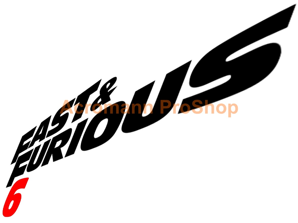 Fast and Furious 6 6inch Decal x 2 pcs