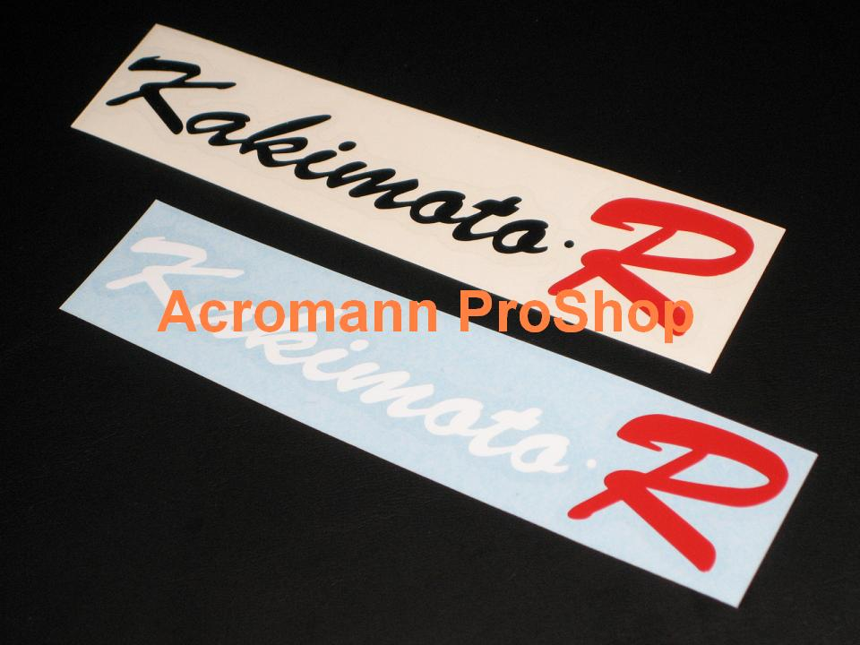 KAKIMOTO R 6inch Decal x 2 pcs