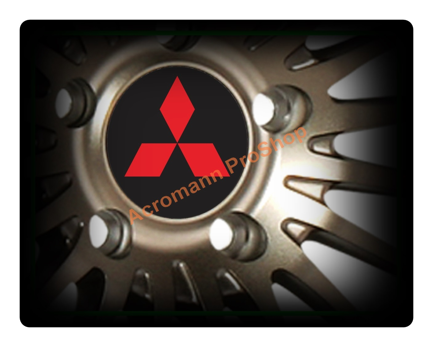 Mitsubishi Printed 2.2inch Wheel Cap Decal x 4 pcs