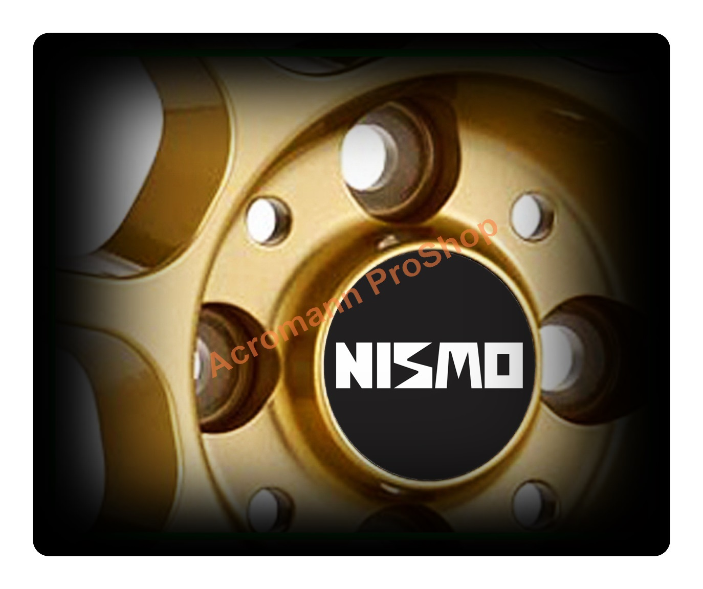 NISMO Printed 2.2inch Wheel Cap Decal (Style A) x 4 pcs