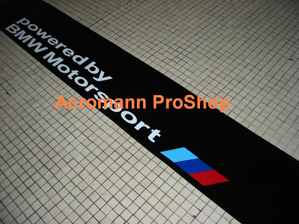 Powered by BMW Motorsport Windshield Decal (Style#1)