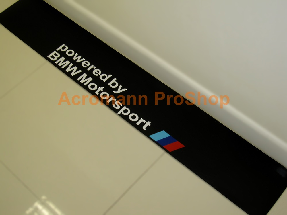 Powered by BMW Motorsport Windshield Decal (Style#3)